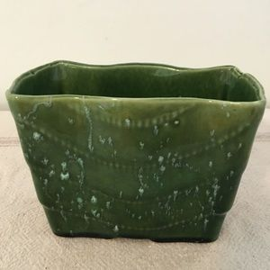 Vintage Pottery Green Planter Stamped on Bottom